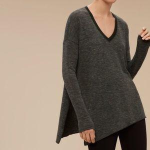Wilfred Side Split Forest Green Sweater sz M